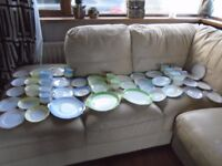 52 piece genuine 1950's/60's Royal Albert Rainbow china tea set. cups. saucers, plates etc