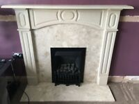 ADAMS STYLE FIRE SURROUND AND GAS FIRE WITH COAL EFFECT