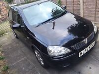 Low Mileage Great Condition Black Vauxhall Corsa