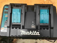 MAKITA DC18RD 7.2v - 18 VOLT LITHIUM ION DUAL PORT BATTERY CHARGER