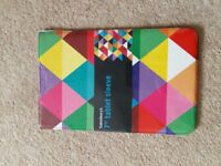 Tablet Case Brand New from Sainsburys Geometric Bright Triangle pattern in original packaging