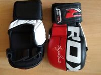 Boxing gloves, MMA gloves, Shin Guards, groin guard, Kit, Martial arts/Self defence equipment,