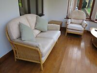 3 Piece Conservatory Suite and Matching Coffee Table