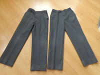 Boys school trousers 10-11 years x2