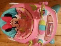 Mini mouse baby walker and door bouncer