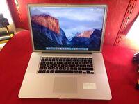 "Apple Macbook Pro 17"" 8gb Ram 500gb hdd"