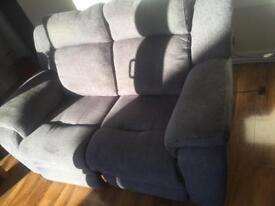 3+2 fabric grey velar recliner sofa for sale can deliver