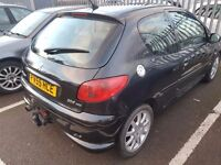 Peugeot 206 1.6 HDi GTi 3dr, DISEL. HPI CLEAR. LONG MOT. CLEAN CAR. IDEAL FOR NEW DRIVERS