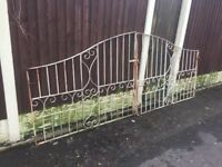 Set Of 10ft Wide Arched Wrought Iron Driveway Gates