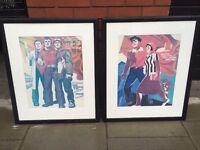Pair of Soviet era prints in quality frames central London bargain