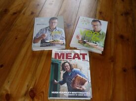NEW River Cootage Cook Books - Light & Easy, Veg Every Day, Meat
