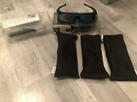 Sony 3D glasses four pairs and transmitter