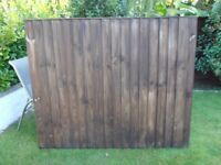 Two Feather Edge Fence Panels