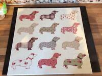 Next sausage dog canvas