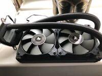 1 month old H100i v2 240mm sip water cooler for Intel