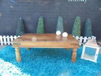 SHESHAM JALI LARGE COFFEE TABLE VERY SOLID AND IT'S IN EXCELLENT CONDITION