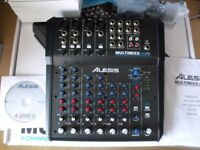 Alesis MultiMix 8 USB FX 8 Channel Mixer with FX.