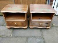 £35 pine bedside cabinets farmhouse shabby chic project