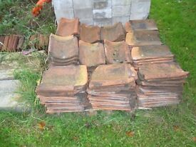 Clay pantiles from old outbuilding handmade 1500 approx