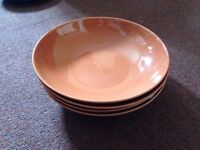 URGENT SET OF 4 DEEP PLATES for sale!!!! Fargrik collection from IKEA! Orange! VERY GOOD CONDITION