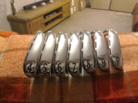 Bargain Wilson Staff C200 Irons 4-PW, as new tried at range , Regular KBS shafts, may P/Ex