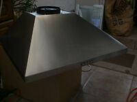 Stainless steel extractor hood