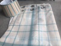 Tab top curtains and matching lampshade