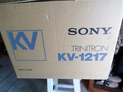 1982 VINTAGE Sony  KV-1217 Trinitron CRT Color TV Mint In Box Museum Holy Grail