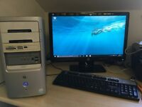 HP Pavilion Desktop – with 23 inch HP Monitor