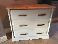Refurbished Solid Pine 3 Drawer Chest