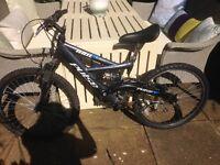 "24"" wheel mountain bike with suspension"
