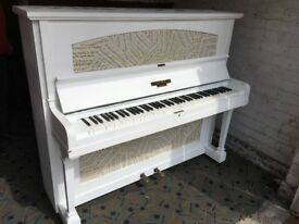chappell over strung decoupage sheet music white painted £225 can deliver