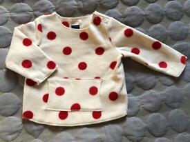 Gap soft fleecy jumper 6-12months
