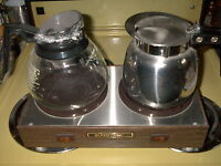 2 burner COFFEE WARMER & POTS
