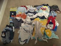 Large bundle of boys clothes 3-6 months