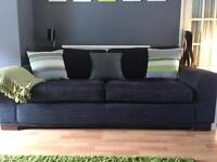 NEXT charcoal/grey 3 seater couch