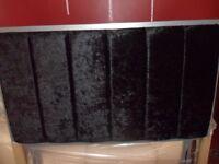 Crushed Velvet Black Headboard