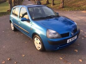 RENAULT CLIO 1.2 EXPRESSION 5DR BLUE PETROL, FULL SERVICE HISTORY, LOTS OF BILLS