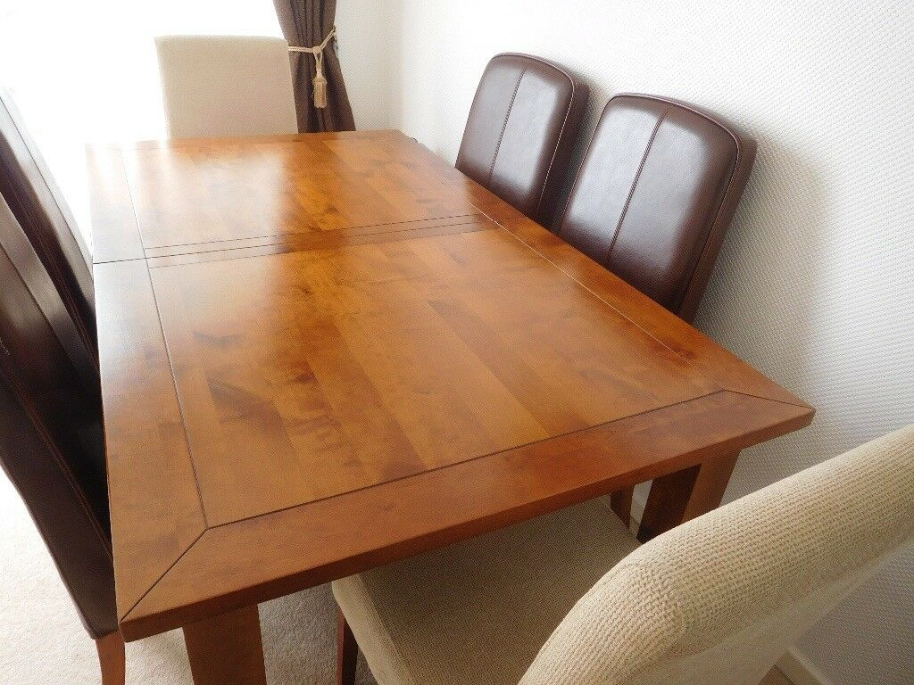 Dining Table And Up To 6 Chairs Extending House Of Fraser