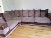 Furniture village Corner Sofa, Next swivel chair and Next shelving unit