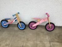 Balance bikes for boys and girls