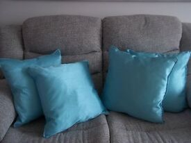 4. 18 inch new teal cushions