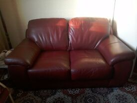 HARVEY's Leather Sofa & Chair