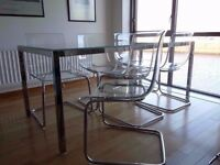 IKEA dining table and 4 chairs,