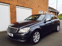 2008 57 Mercedes Benz C Class C220 CDI AUTO++New Shape++180k Company Owned+Leather not 320d a4 2.0