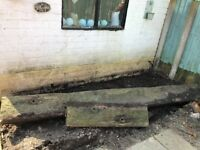 FREE Rail sleepers 1 x 8ft 1 x 2ft. COLLECTION ONLY