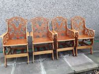 One off garden chairs. 4 available