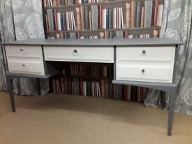 Vintage Dressing Table in Dove Grey and Vintage White