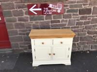 Cream sideboard with solid oak top * free furniture delivery *