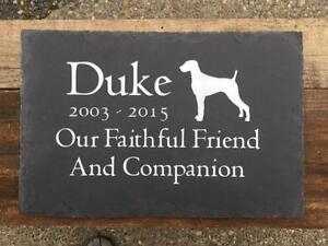 Natural Slate Pet Memorial